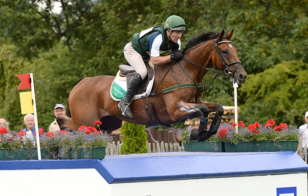 Austin O'Connor (IRL) riding Kilpatrick Knight during the Cross Country phase of the CICO *** at Aachen, Germany on 13 August 2015