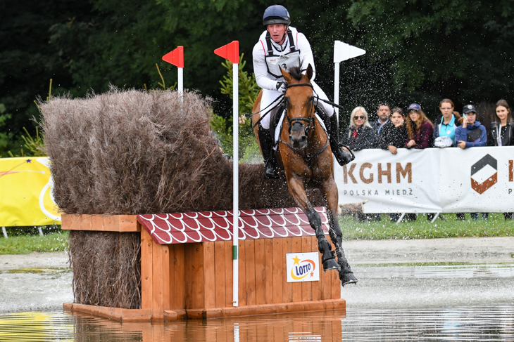 Oliver Townend and Cooley SRS in action on cross-country day yesterday. Picture by Peter Nixon