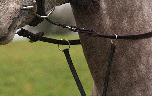 how to put on a running martingale