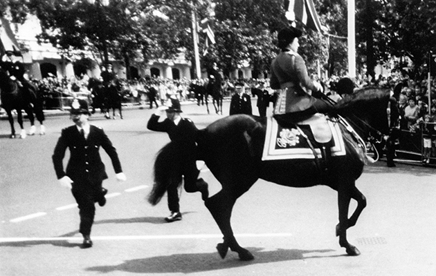 TBT: when a man 'shot' The Queen during Trooping the Colour