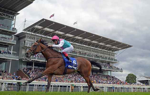 Ebor Festival Day Two Enable ridden by Frankie Dettori wins Darley Yorkshire Oaks on day two of the Ebor Festival at York Racecourse, Yorkshire.