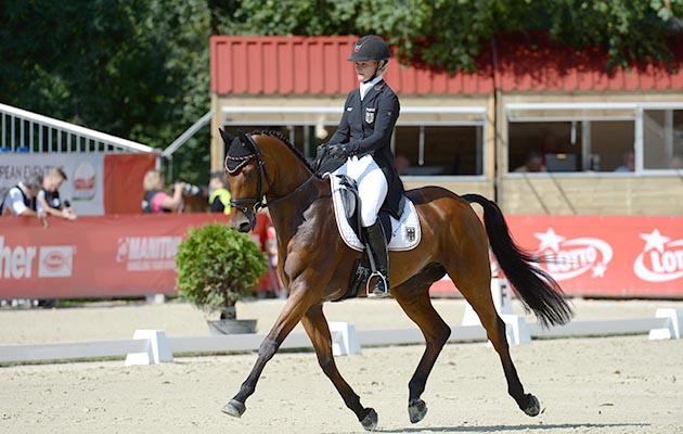 julia krajewski germany loses silver medal eventing european championships