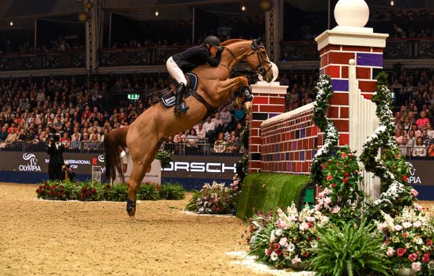 Top British Rider Clears 7ft Wall At Olympia To Win