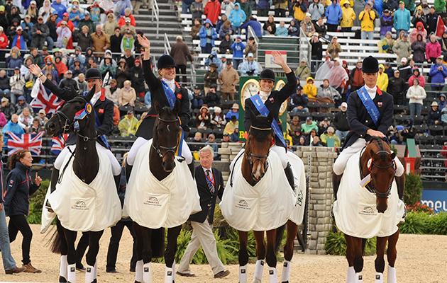 BRITISH TEAM NICOLA WILSON, TINA COOK, MARY KING, WILLIAM FOX PITT World Equestrian Games eventing results