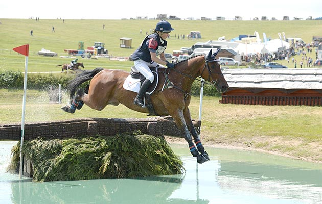Kate Honey riding FERNHILL NOW OR NEVER in the CIC ** during the Barbury International Horse Trials at Sharpridge Farm, Rockley, near Marlborough in Wiltshire, UK on 11 July 2015