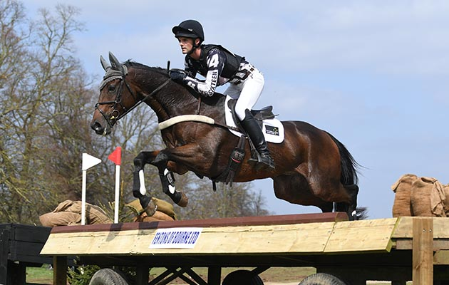 Andrew Daines (NZL) riding SPRING PANORAMA in section J during Belton Park International near Grantham in the county of Lincolnshire in the UK on the 14 April 2018