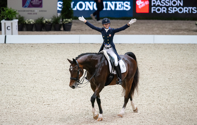 Paris World Cup dressage final 2018 grand prix Laura Graves Verdades