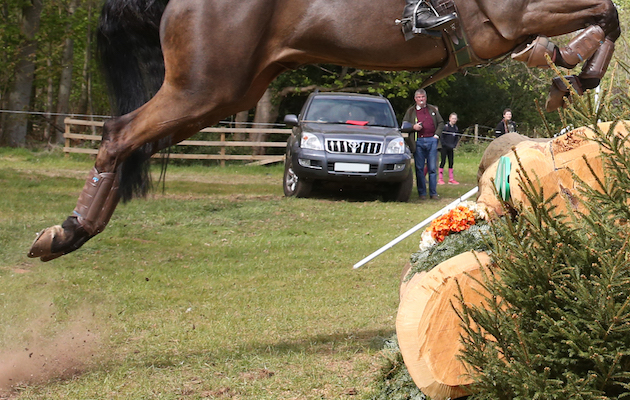 Ali MacRae fence judging at BE Dalkeith Horse Trials 2017