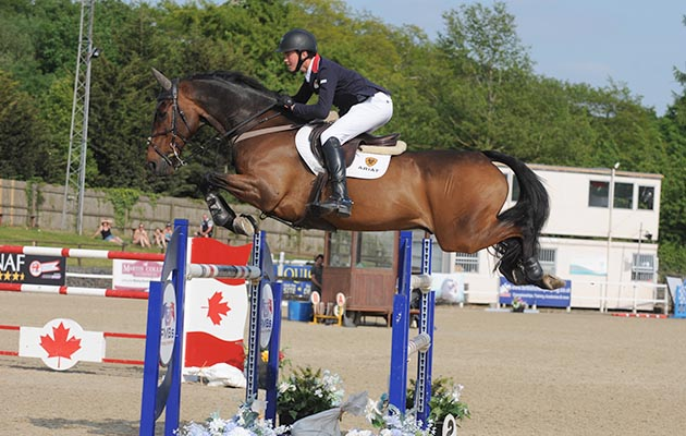 Olli Fletcher riding KBIS Caicos to win the Area Trial at Wales and West
