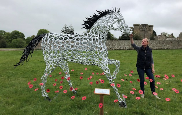 Belsay Horse Trials Spirit of Freedom war horse sculpture
