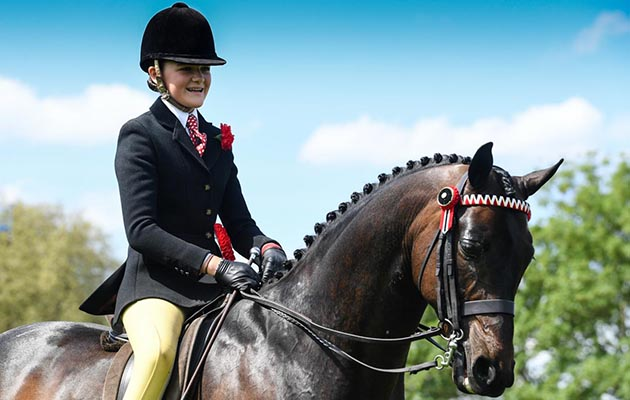 HM The Queen's Whalton Highwayman, ridden by 15-year-old Kinvara Garner