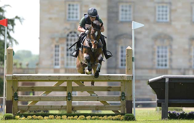 Simon Grieve (GBR) riding EDISON in the cross country phase of the CCI** section at the Saracen Horse Feeds Houghton International Horse Trials on the Houghton Hall Estate near King's Lynn in Norfolk in the UK between 25th-28th May 2017