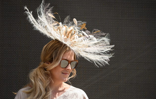 ASCOT, ENGLAND - JUNE 21: A racegoer ådisplays her hat during Royal Ascot Day 3 at Ascot Racecourse on June 21, 2018 in Ascot, United Kingdom. Royal Ascot is Britain's most valuable race meeting, attracting many of the world's finest racehorses to compete for more than £7.3m in prize money. (Photo by Leon Neal/Getty Images)