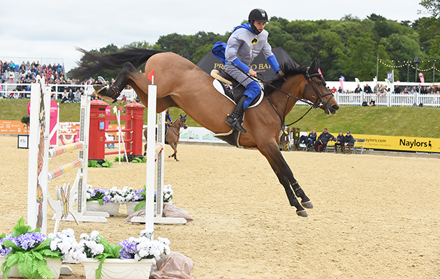 Graham Gillespie and Amelia Tedinnick during the invitational Mini Major Relay during the Equerry Bolesworth International Horse Show at Bolesworth Castle near Chester in Cheshire in the UK on 17th June 2018