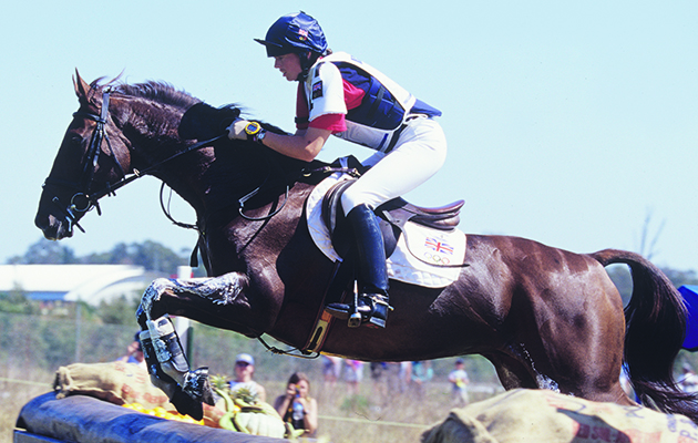 Jeanette Brakewell and Over to You competing at the 2000 Olympics in Sydney