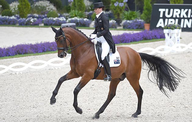 Lyndal OATLEY riding Sandro Boy 9 ; during the Grand Prix CDIO, the 1st Round of the Lambertz Nations Cup during the World Equestrian Festival, CHIO Aachen, in Aachen Germany on 14 July 2016