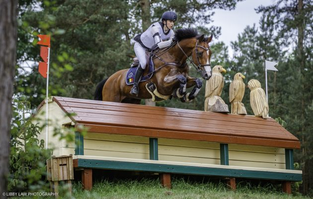 Chloe Raty riding Axel Z in the CCI4* at Luhmuhlen before they fell