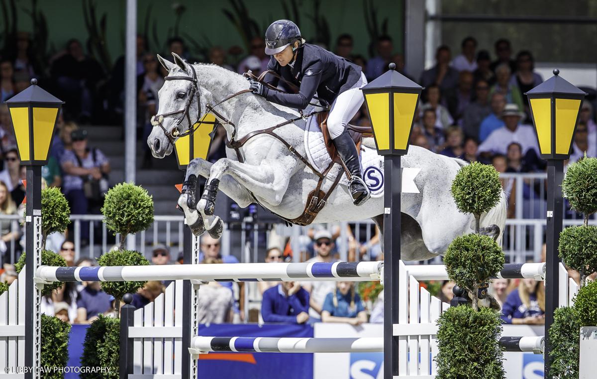 Jonelle Price riding Faerie Dianamo to win Luhmuhlen CCI4*