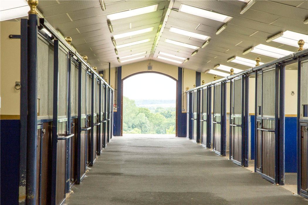 There is much choice in horse stables design, including whether to choose internal boxes as pictured here