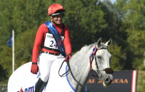 Paul Tapner, pictured here after a win in the eventers' challenge at Hickstead, has suffered a brain bleed and minor stroke