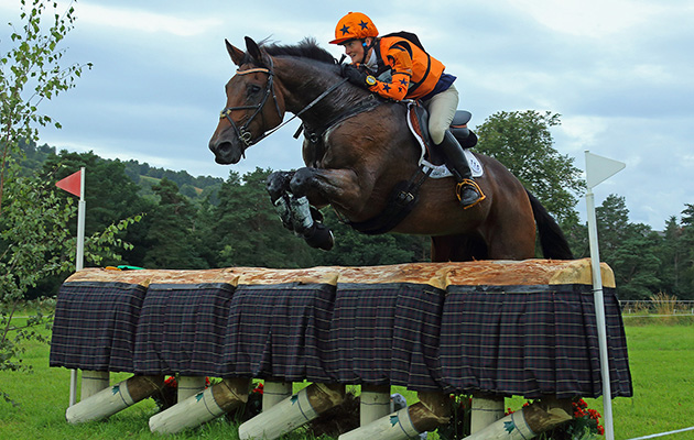 Classy Touch competing with Caroline Mosley at Blair CCI*