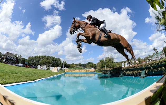 James Whitaker riding GLENAVADRA BRILLIANT winner of The BHS Queen Elizabeth II Cup during The Longines FEI Jumping Nations Cup™ of Great Britain at the BHS Royal International Horse Show 2018