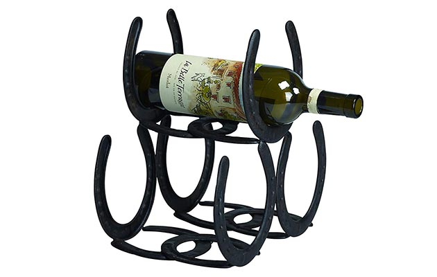 Horseshoes wine rack