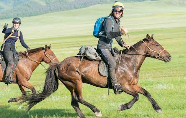 Mongol Derby 2018 winners Annabel Neasham Adrian Corby