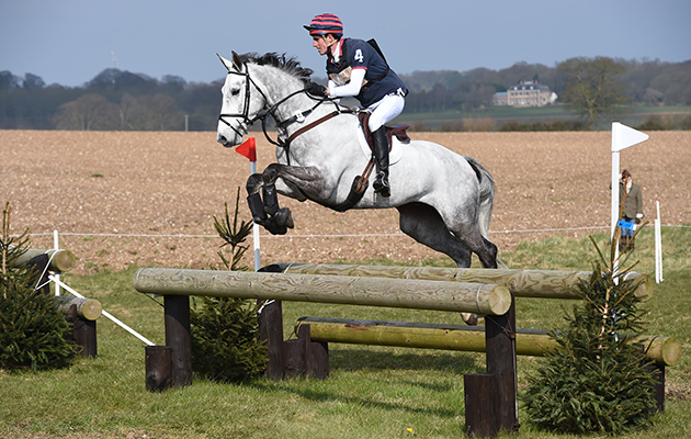 Hector Payne riding DYNASTY in the CIC** Section A, during the Barefoot Estate Burnham Market International Horse Trials at Sussex Farm near Burnham Market in Norfolk UK on 3rd April 2016