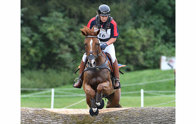 Katrin KHODDAM-HAZRATI (AUT) riding COSMA during the cross country phase of the FEI European Championships at Strzegom in Poland between 15 - 20th August 2017