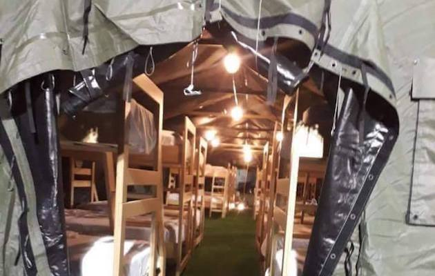 WEG Tryon grooms tents