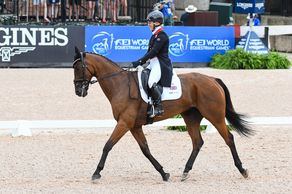 WEG eventing dressage Gemma Tattersall
