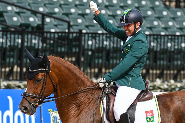 Rodolpho Riskalla riding at the Tryon World Equestrian Games