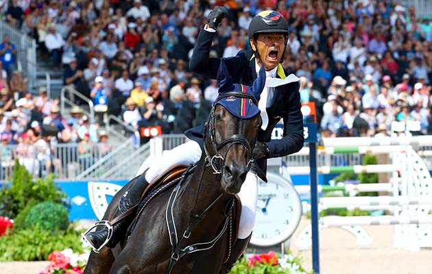 LOPEZ LIZARAZO Carlos Enrique (COL) riding Admara 2 during the FEI World Equestrian Games 2018 on September 23, 2018 in Tryon, United States of America. (Photo by Pierre Costabadie/Icon Sport via Getty Images)