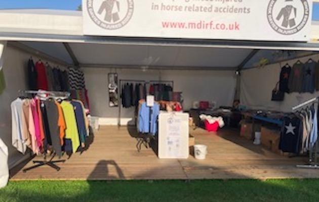 MDIRF Stand At Burghley Horse Trials [1] camper van stolen