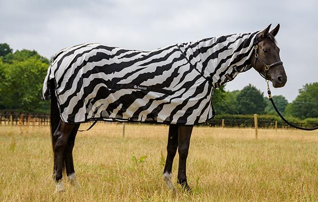 Bucas Buzz Off Zebra Full Neck Fly Rug Good All Round Protection 7 10