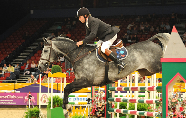 7 Year Old Championship . Nick Skelton on Carlo D .