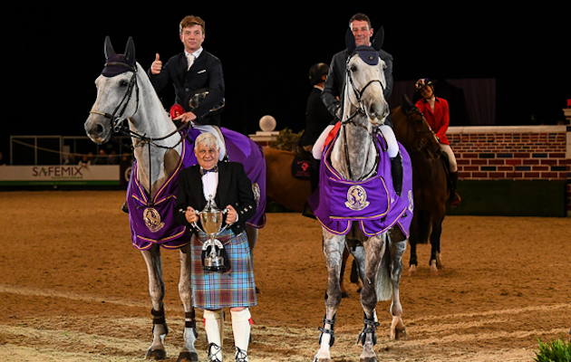 HOYS puissance 2018 winners Alfie Bradstock and Guy Williams