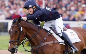 Supreme Rock and Pippa Funnell after winning Badminton Horse Trials 2002