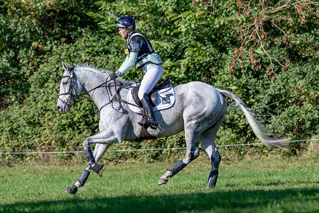 Barrison at Bicton Coral Keen galloping