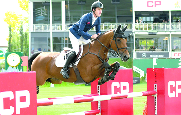 Scott Brash of GBR riding Ursula XII during theCP International Grand Prix at 2016 Spruce Meadows Masters. (Mike Sturk photo)