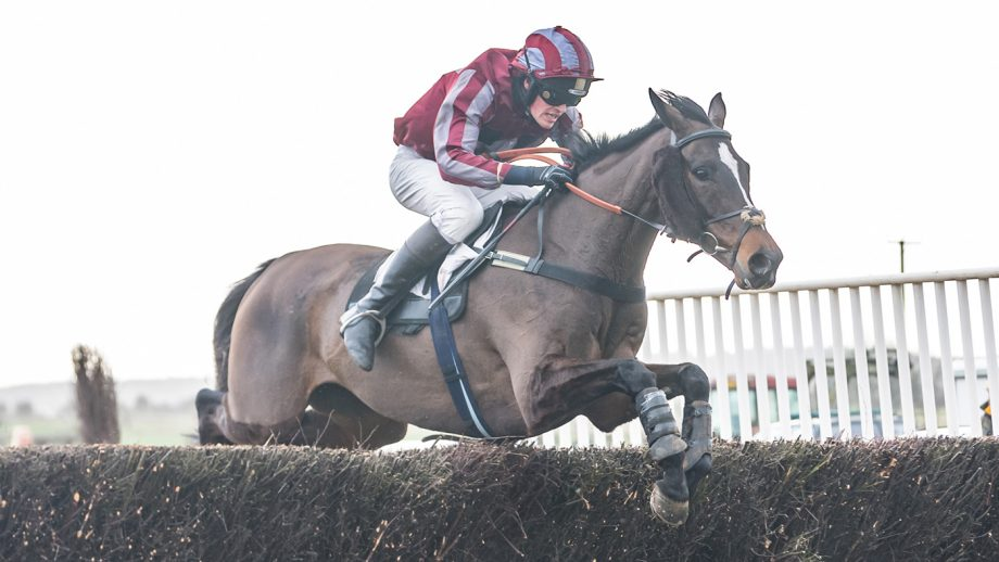 George Henderson riding The Caller at Cocklebarrow point-to-point January 2019