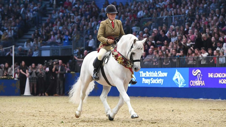 Banks Timber and Sandra Burton M&M Champion during the Olympia, The London International Horse Show held at Olympia in London in the UK between 17 - 23 December 2018