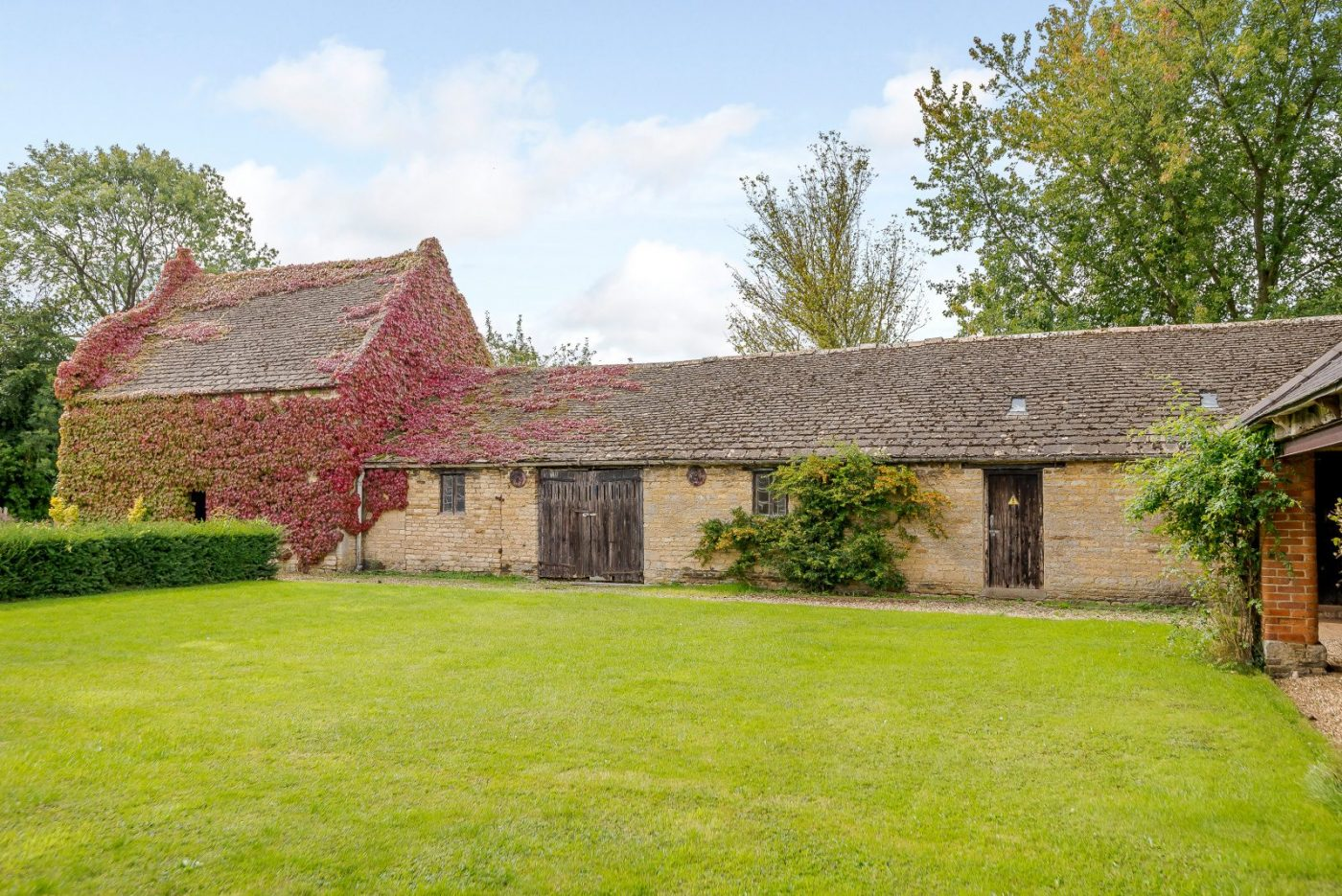 Want to be lord or lady of the manor? A Grade II listed house with paddocks, stables and several cart sheds awaits…