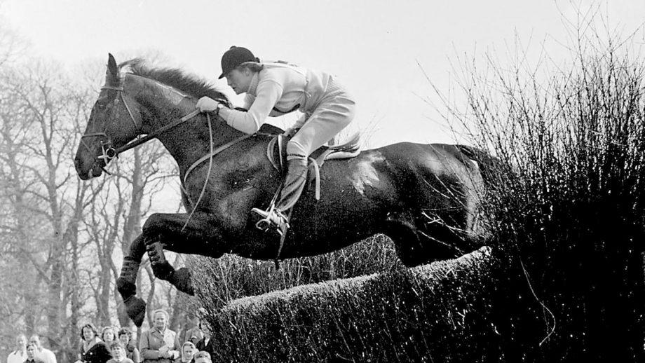 Anneli Drummond-Hay & Merely a Monarch at Badminton Horse Trials 1962