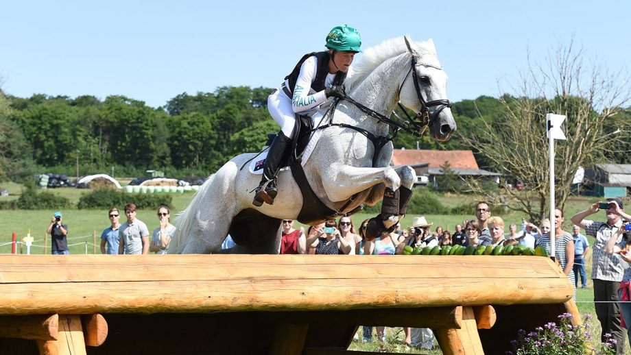 Isabel ENGLISH riding Feldale Mouse AUS competing in the cross country phase of the eventing competition during the World Equestrian Festival CHIO in Aachen in Germany between 20 - 23th July 2017