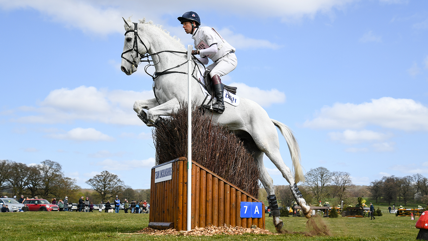 William Fox-Pitt, Piggy French and Pippa Funnell — 18 Badminton entrants enjoying a spin round Belton