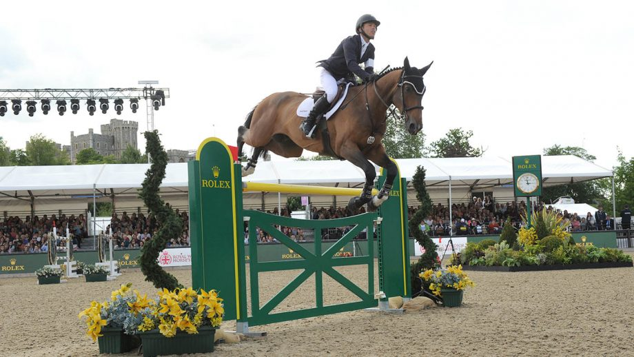 Kent Farrington and Sherkan D'Amaury winners of the Rolex Grand Prix CSI5* at the Royal Windsor Horse Show in the private grounds of Windsor Castle in Windsor in Berkshire in the UK between 10th-14th May 2017