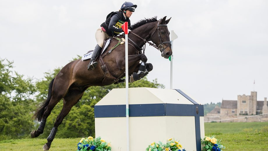 Piggy French riding CASTLETOWN CLOVER in OI Section O, during the Rockingham Castle International, held in The Great Park Rockingham Castle near Corby in Northamptonshire in the UK on 18th May 2019 Piggy French Rockingham