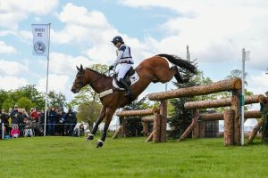 Laura Collett and Mr Bass on the Badminton cross-country